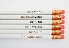 Love this gentle reminders pencil set