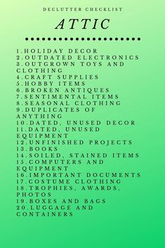 Your Home Organization System and Declutter Checklists Complete attic declutter checklist Attic Storage, Home Organization Hacks, Organizing Tips, Organizing Paperwork, Decluttering Ideas, Closet Storage, Cleaning Checklist, Cleaning Hacks, Housekeeping Schedule