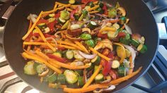 Homemade peppers an onions with homegrown peppers and store bought Italian Calabrese sausage Family Meals, Family Recipes, Banting, Paella, Pasta Salad, Sausage, Lunch Box, Veggies, Stuffed Peppers