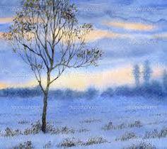 watercolor winter landscapes - Google Search