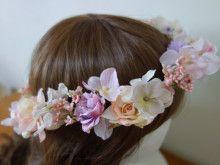 パープル~ピンクの華奢な花冠♡ |Ordermade Wedding Flower Item MY FLOWER ♪ まゆこのブログ