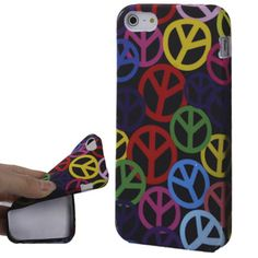 Multi Colour Peace Protective TPU Soft Silicone Cover Case for iPhone 5 5S