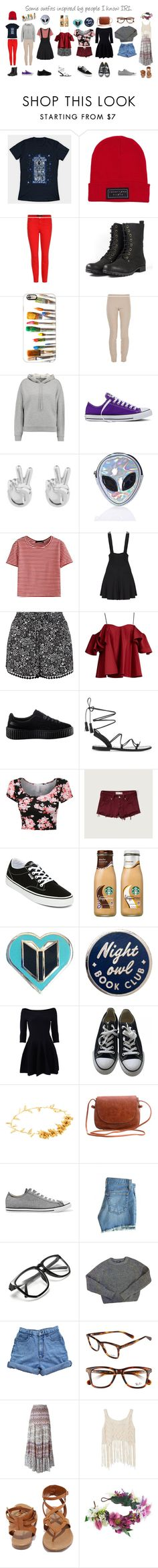 """""""0300"""" by doglover43 ❤ liked on Polyvore featuring J Brand, Casetify, The Row, T By Alexander Wang, Converse, Rock 'N Rose, Disturbia, WithChic, New Look and Anna October"""