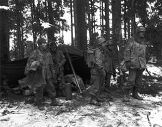 2nd Battalion, 442nd RCT near St. Die area France, November 13, 1944.