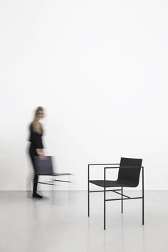 A Chair is a minimalist chair created by Spain-based designers Fran Silvestre Arquitectos. A chair design is born by the relation between two elements. On the one hand, the structural metallic frame made of a minimal-squared profile with an orthogonal geometry which ensures the piece's stability. In this regard there is a strong reinterpretation of the techniques used in the classic design of the wooden chairs. On the other hand, the organic geometry of the natural wooden chassis provides…