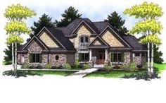 European Style House Plans - 2874 Square Foot Home, 2 Story, 4 Bedroom and 2 3 Bath, 3 Garage Stalls by Monster House Plans - Plan 7-783