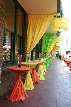Colorful Polyester Tablecloths Look For a Fiesta