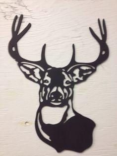 Metal Deer Buck Silhouette 15 x 11 by MarriedToTheMetal on Etsy