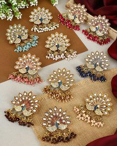 Indian Jewelry Earrings, Indian Jewelry Sets, Silver Jewellery Indian, Jewelry Design Earrings, Antique Jewellery Designs, Fancy Jewellery, Thread Jewellery, Stylish Jewelry, Pakistani Bridal Jewelry