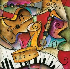 Jazz It Up II by Eric Waugh - Canvas, Wood, Acrylic, Aluminium - ArtToCanvas