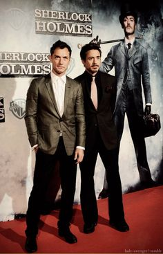 """Jude and Robert at the premiere of """"Sherlock Holmes"""""""