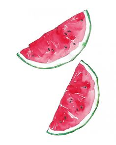 WATERMELON - watercolor illustration by Good Objects