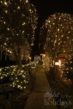 The Best 40 Outdoor Christmas Lighting Ideas That Will Leave You Breathless Christmas Lights Outside, Christmas House Lights, Hanging Christmas Lights, Christmas Light Displays, Xmas Lights, Decorating With Christmas Lights, Outdoor Christmas Decorations, Holiday Lights, Light Decorations