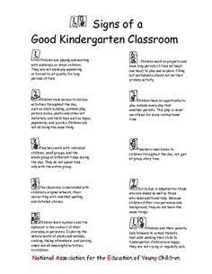 10 SIGNS OF A GOOD KINDERGARTEN CLASSROOM - TeachersPayTeachers.com