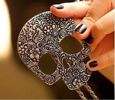 Making a fashion statement? Try this Unique Skull Heads Pendant Necklace - starts at $5 in today's Daily Bazaar @ 2PM PT.