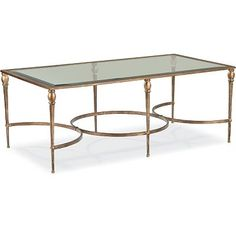 Hollywood Regency style coffee table for living room from Thomasville