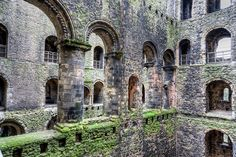 Arches of the keep, Rochester Castle, Kent