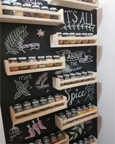 Spice Rack Ideas - the Story Kitchen organization doesn't need to happen overnight, in reality, it's something that you may want to tweak from time to. shed design shed diy shed ideas shed organization shed plans spices Kitchen Organisation, Spice Organization, Diy Kitchen Storage, Home Decor Kitchen, Kitchen Furniture, Kitchen Interior, Kitchen Ideas, College Organization, Kitchen Trends