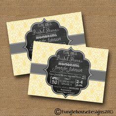Bridal Shower Wedding Invitation DIY by bunglehousedesigns on Etsy, $12.00