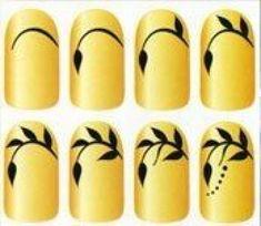 Easy and beautiful leaves nageldesign muster Nail Art Hacks, Easy Nail Art, Cool Nail Art, Swirl Nail Art, Nail Drawing, Nail Art Techniques, Thanksgiving Nails, Nail Patterns, Flower Nails