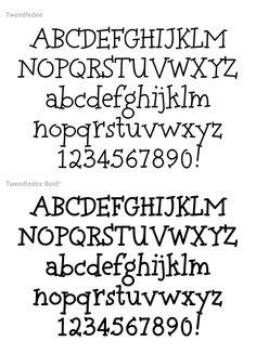 Tweedledee (2 fonts) font from Typadelic