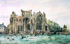 Oppenheimer, Charles, (1875-1961), Melrose Abbey, Watercolour