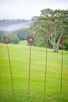 outdoor wedding decor - I know some machinists that could make these!!