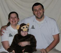 First Family Costume: Zookeepers and their monkey.