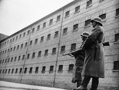 German guards at Vestre Fængsel, a Danish prison taken over by the Germans during their occupation in World War II.  (National Museum of Denmark)