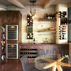 One day I'll have a wine tasting room...next to my massive wine cellar!