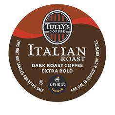 Italian Roast Extra Bold Coffee by Tullys® - Keurig.com