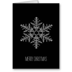 Silver and Gold Faux Glitter Snowflake card