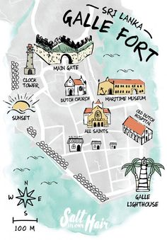 A day trip guide for exploring Galle Fort in Sri Lanka Sri Lanka | Galle Fort | Map | Guide | Ligthouse | Sunset | Island