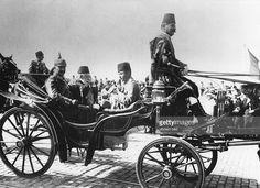 German Emperor Wilhelm II Sultan Mehmed Reshad V and Enver Pasha October 1917 Istanbul [1024 x 744] http://ift.tt/2ggwuEt