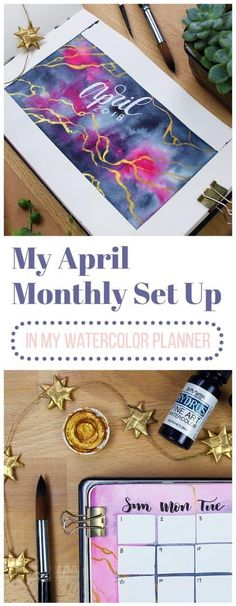 April is here, and that means a new April monthly set up! Come check out my wild watercolor antics this time and watch the whole process from start to beautiful finish. What a way to welcome spring! Beauty Routine Planner, Everyday Beauty Routine, Beauty Routine Checklist, Morning Beauty Routine, Beauty Routines, Bujo, Bullet Journal Themes, Bullet Journals, Art Journals