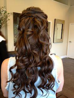 Long wedding hair trial.