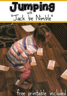 Jack be Nimble Nursery Rhyme Gross Motor Activity