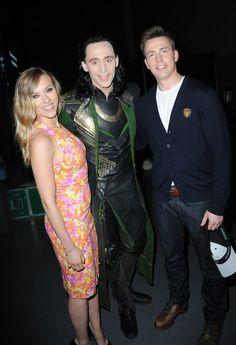 Scarlett and Chris with Loki (Tom)