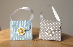 Make a Handbag using the Stampin' Up! Gift Bag Punch Board