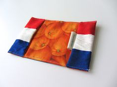 LIMITED WORLD CUP EDITION! Dutch flag Passport holder silk Dutch flag by BagsByTravelher, $18.00