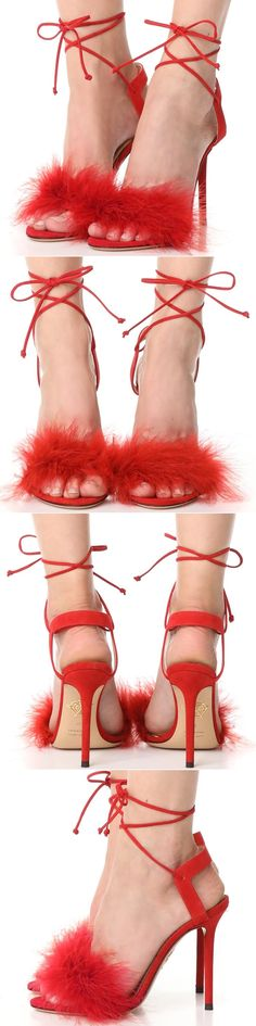 Delicate ostrich feathers add a retro glamour to these satin Charlotte Olympia 'Salsa' heels