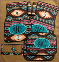 Hey, I found this really awesome Etsy listing at https://www.etsy.com/listing/225079377/car-mats-aztec-monogrammed-gift-ideas