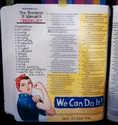 Bev Knaup bible journaling Proverbs 31
