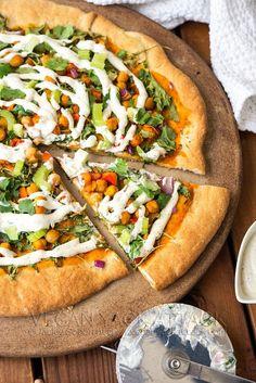 Buffalo Chickpea Ranch Pizza | Vegan Yack Attack #vegan