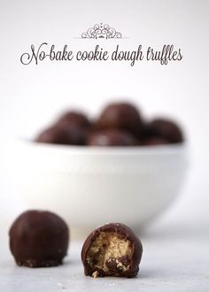 "Confession: I am a cookie dough lover. Obsessed actually. I know you're not ""supposed"" to eat the dough because of the raw egg, etc. but it is way too tempting. When I saw these no-bake chocolate chip cookie dough truffles on BHG that contained no egg I was sold. This recipe is super easy to [...]"