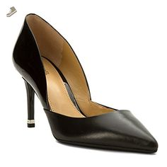 MICHAEL Michael Kors Women's Ashby Flex Mid Pump Black Smooth Calf/Patent 9.5 M - Michael kors pumps for women (*Amazon Partner-Link)