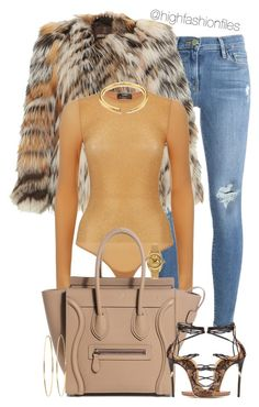 """"""""""" by highfashionfiles ❤ liked on Polyvore featuring Frame, Roberto Cavalli, Wolford, Dsquared2, Jennifer Meyer Jewelry, Rolex and Michael Kors"""