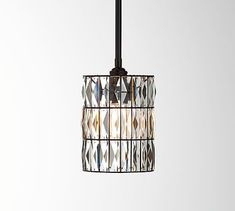 Pottery Barn PB Classic Pendant with Adeline Crystal Shade Pendant Light Fixtures, Pendant Lighting, Pottery, Light, Pottery Barn, Outdoor Pendant, Crystal Chandelier, Rectangular Chandelier, Glass Pendants