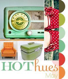 retro colors--green-red-orange