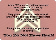 """Signs and Solutions to Military Spouse """"Rankism"""""""